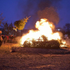 Kerstboomverbranding 20/01 in Fort II